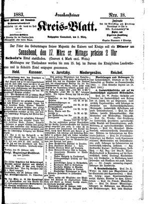 Frankensteiner Kreisblatt vom 03.03.1883