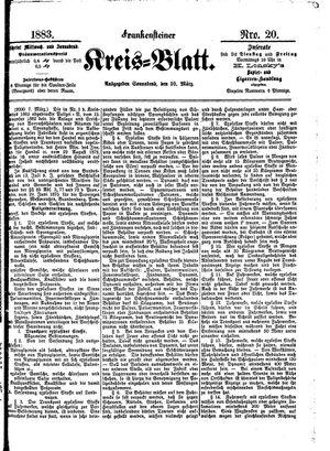 Frankensteiner Kreisblatt vom 10.03.1883