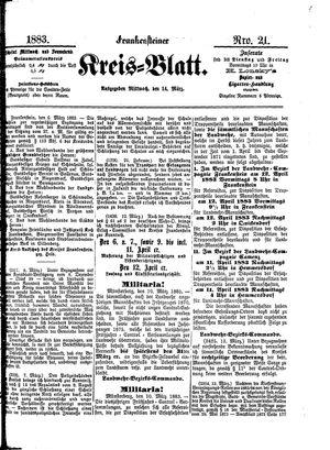 Frankensteiner Kreisblatt vom 14.03.1883