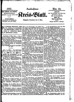 Frankensteiner Kreisblatt vom 17.03.1883
