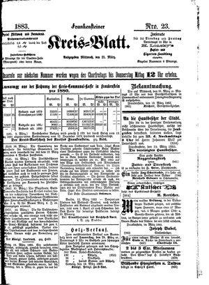 Frankensteiner Kreisblatt vom 21.03.1883