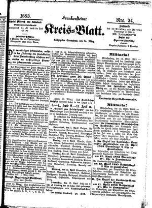 Frankensteiner Kreisblatt vom 24.03.1883