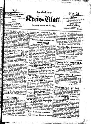 Frankensteiner Kreisblatt vom 28.03.1883