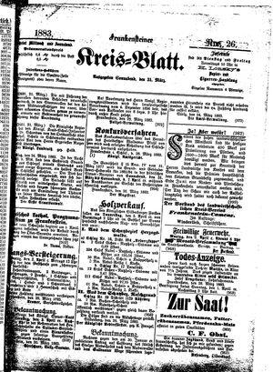 Frankensteiner Kreisblatt vom 31.03.1883
