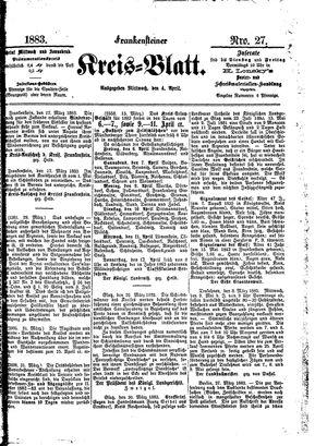 Frankensteiner Kreisblatt vom 04.04.1883