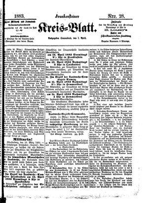 Frankensteiner Kreisblatt vom 07.04.1883