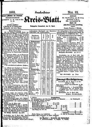 Frankensteiner Kreisblatt vom 21.04.1883