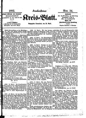 Frankensteiner Kreisblatt vom 28.04.1883