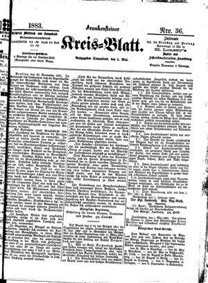 Frankensteiner Kreisblatt vom 05.05.1883