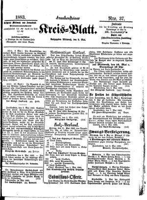 Frankensteiner Kreisblatt vom 09.05.1883