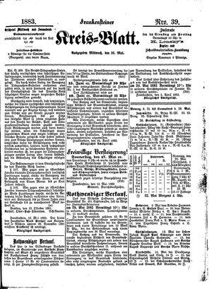 Frankensteiner Kreisblatt on May 16, 1883