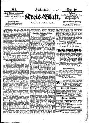 Frankensteiner Kreisblatt vom 19.05.1883