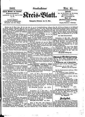 Frankensteiner Kreisblatt vom 23.05.1883