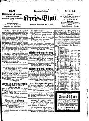 Frankensteiner Kreisblatt vom 09.06.1883