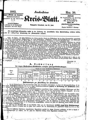 Frankensteiner Kreisblatt vom 23.06.1883
