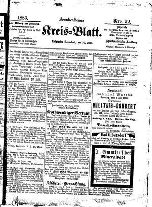 Frankensteiner Kreisblatt vom 30.06.1883