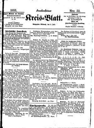 Frankensteiner Kreisblatt vom 04.07.1883