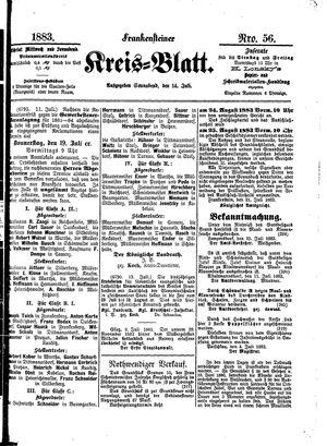 Frankensteiner Kreisblatt vom 14.07.1883