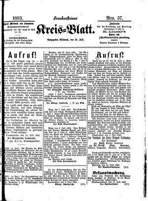 Frankensteiner Kreisblatt vom 18.07.1883