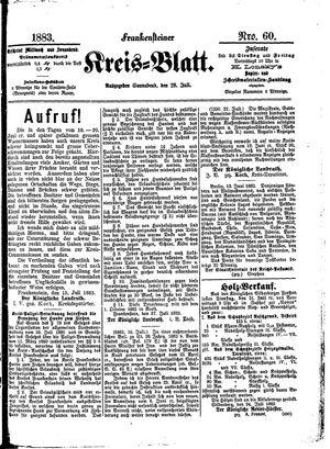 Frankensteiner Kreisblatt vom 28.07.1883