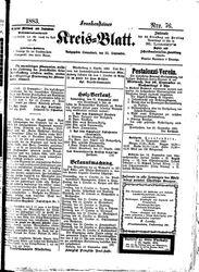 Frankensteiner Kreisblatt (22.09.1883)