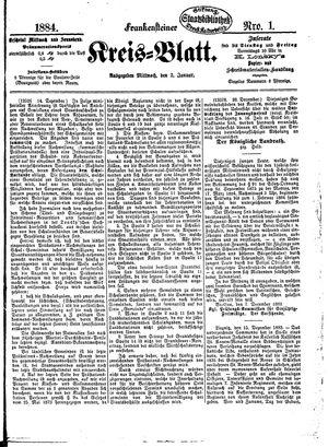 Frankensteiner Kreisblatt vom 02.01.1884