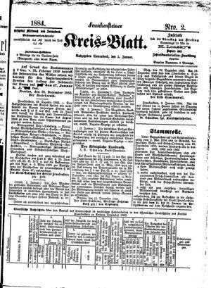 Frankensteiner Kreisblatt vom 05.01.1884