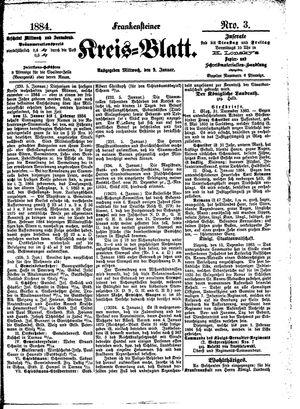 Frankensteiner Kreisblatt vom 09.01.1884