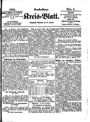Frankensteiner Kreisblatt vom 16.01.1884
