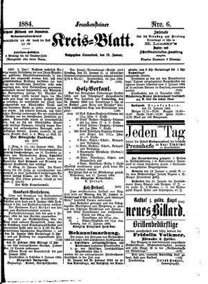 Frankensteiner Kreisblatt vom 19.01.1884