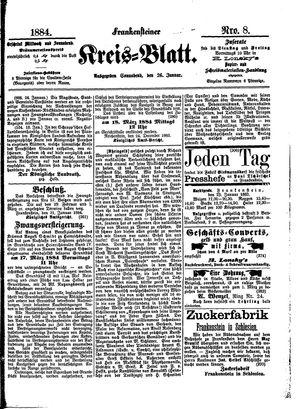 Frankensteiner Kreisblatt on Jan 26, 1884