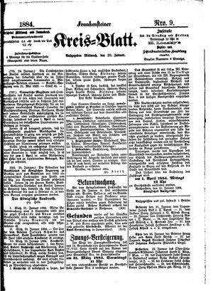 Frankensteiner Kreisblatt vom 30.01.1884