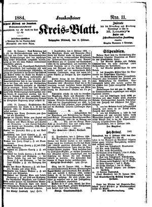 Frankensteiner Kreisblatt vom 06.02.1884