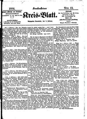 Frankensteiner Kreisblatt vom 09.02.1884