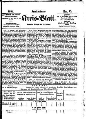 Frankensteiner Kreisblatt on Feb 20, 1884