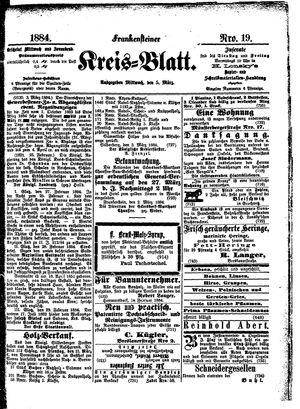 Frankensteiner Kreisblatt vom 05.03.1884