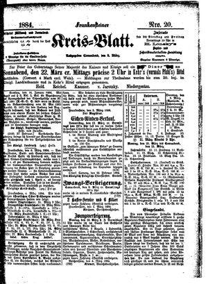 Frankensteiner Kreisblatt vom 08.03.1884