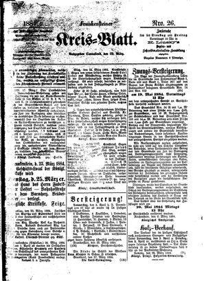 Frankensteiner Kreisblatt vom 29.03.1884