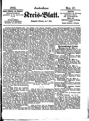 Frankensteiner Kreisblatt vom 07.05.1884