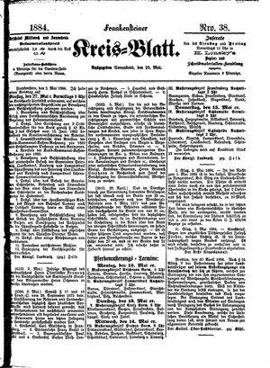 Frankensteiner Kreisblatt vom 10.05.1884