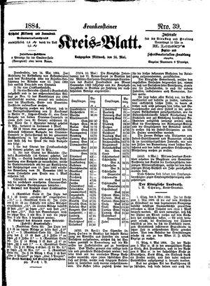 Frankensteiner Kreisblatt vom 14.05.1884