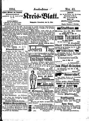 Frankensteiner Kreisblatt vom 24.05.1884