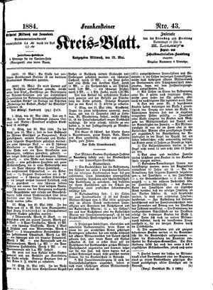 Frankensteiner Kreisblatt vom 28.05.1884