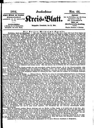 Frankensteiner Kreisblatt vom 31.05.1884