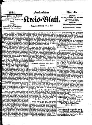 Frankensteiner Kreisblatt vom 04.06.1884