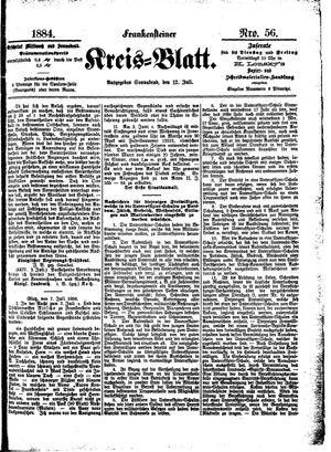 Frankensteiner Kreisblatt vom 12.07.1884