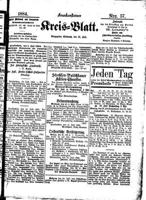 Frankensteiner Kreisblatt vom 16.07.1884