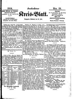 Frankensteiner Kreisblatt vom 23.07.1884