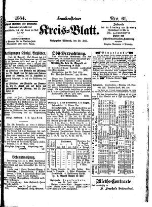 Frankensteiner Kreisblatt vom 30.07.1884