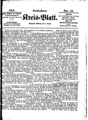Frankensteiner Kreisblatt vom 06.08.1884